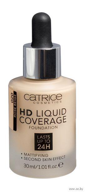 """Тональный крем для лица """"HD Liquid Coverage"""" тон: 020, rose beige — фото, картинка"""