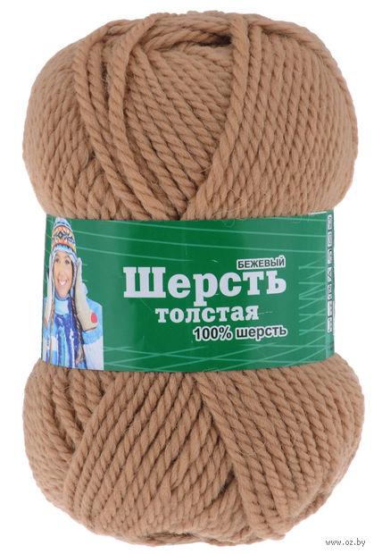 "Пряжа ""Астра. Wool XL"" (бежевая; 100 г; 110 м) — фото, картинка"