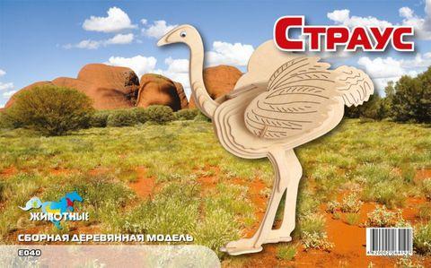 """Сборная деревянная модель """"Страус"""" — фото, картинка"""