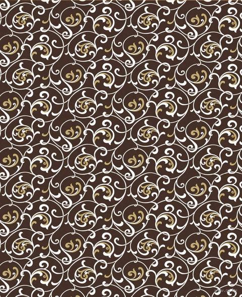 """Простыня хлопковая на резинке """"Завитки шоколад"""" (160х200 см) — фото, картинка"""