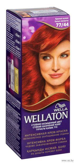 """Крем-краска для волос """"Wellaton. Интенсивная"""" тон: 77/44, красный вулкан — фото, картинка"""