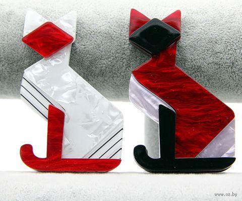 "Брошь ""Кошка"" (арт. RG-BR9157) — фото, картинка"