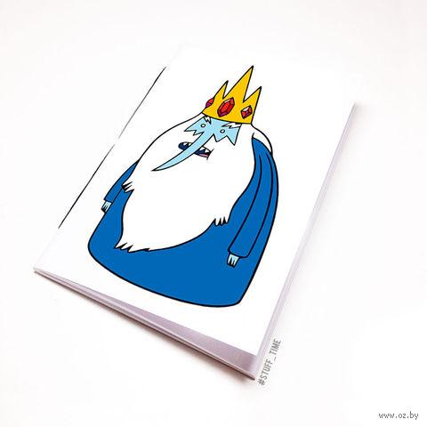 """Блокнот белый """"Время приключений. Ледяной король"""" А6 (095)"""