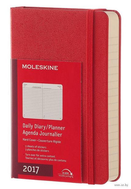 """Ежедневник Молескин """"Classic"""" на 2017 год (карманный; твердая красная обложка)"""