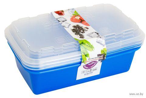 "Набор контейнеров для заморозки ""Zip"" (3 шт.; джинс) — фото, картинка"