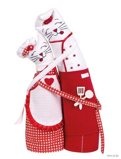 """Набор для шитья из ткани """"Коты-обнимашки. Поварята"""" — фото, картинка"""