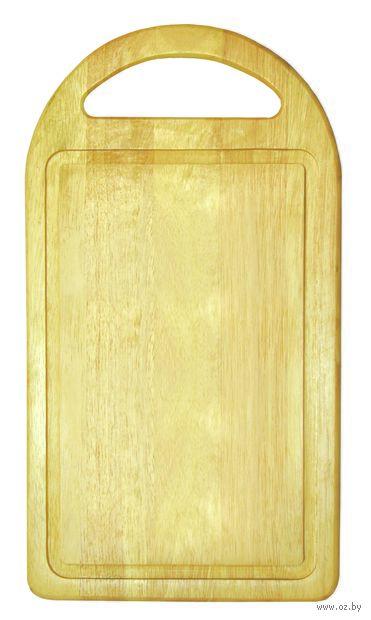 Доска разделочная деревянная (350х195х15 мм; арт. 9/665) — фото, картинка