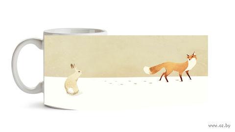 """Кружка """"Лиса и заяц"""" (186)"""