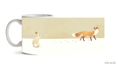 """Кружка """"Лиса и заяц"""" (арт. 186)"""