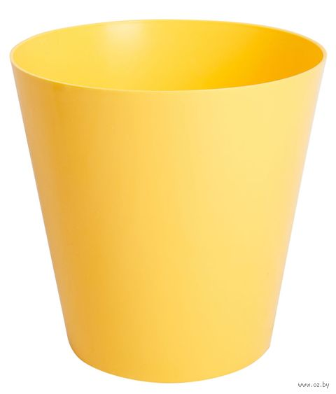 """Цветочный горшок """"Сэмпл"""" (13 см; желтый) — фото, картинка"""