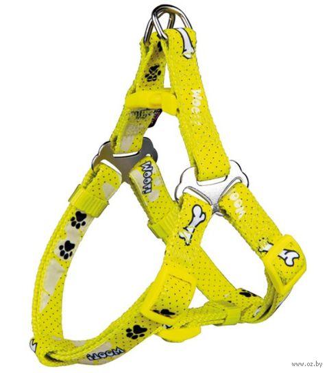 "Шлея для собак ""Modern Art Harness Woof"" (размер XXS-XS; 25-35 см; желтый)"