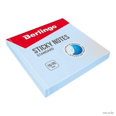 """Бумага для заметок на клейкой основе """"Стандарт"""" (голубая; 100 листов)"""
