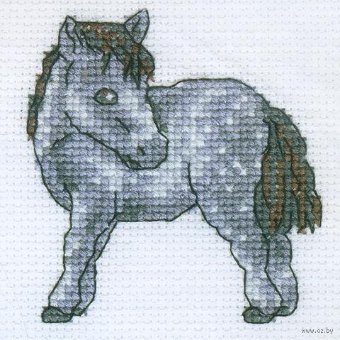 """Вышивка крестом """"Лошадка в яблоках"""""""