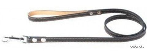 Поводок из натуральной кожи (1,2 м; черный; арт. 04561) — фото, картинка