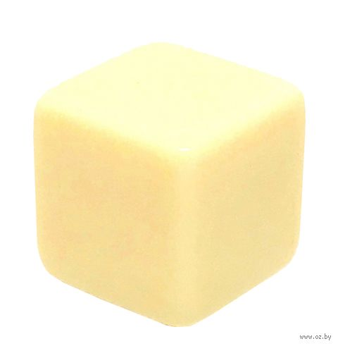 "Кубик D6 ""Пустой"" (16 мм; бежевый; арт. 2527) — фото, картинка"