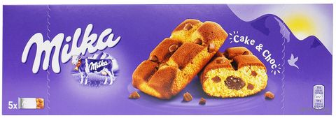 """Пирожное бисквитное """"Milka. С шоколадной начинкой"""" (175 г) — фото, картинка"""