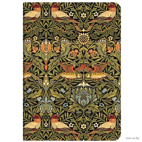 "Записная книжка Paperblanks ""Птицы Морриса"" в линейку (формат: 120*170 мм, средний)"