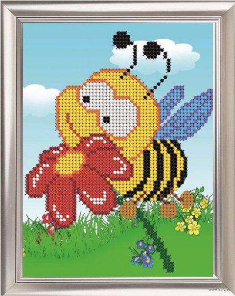 """Вышивка бисером """"Пчелка"""""""