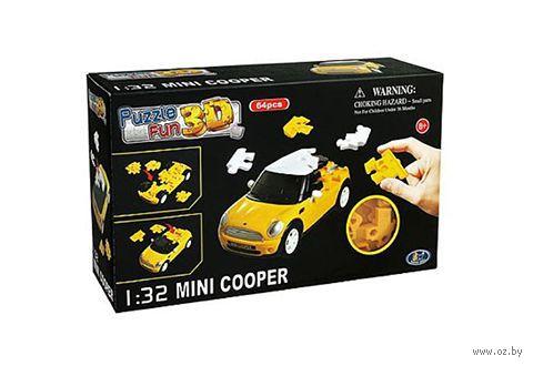 "Пазл ""3D Puzzle. Mini Cooper матовый желтый"" (64 элемент) — фото, картинка"