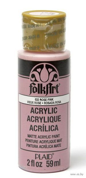 "Краска акриловая ""FolkArt"" (розовая гвоздика, 59 мл; арт. PLD-00632)"