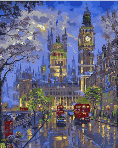 "Картина по номерам ""Вечерний Лондон"" (400х500 мм; цветной холст)"