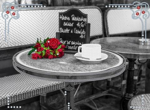"""Вышивка бисером """"Утренний кофе"""" (180х270 мм) — фото, картинка"""