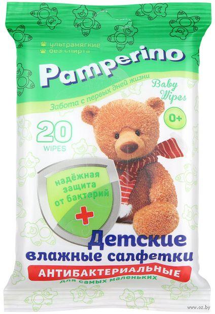 """Влажные салфетки детские """"Pamperino"""" (20 шт.) — фото, картинка"""