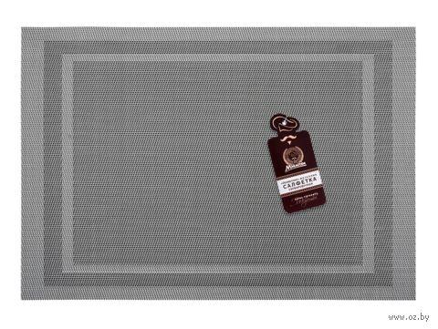 """Салфетка сервировочная """"Геометрия"""" (300x450 мм; металлик) — фото, картинка"""