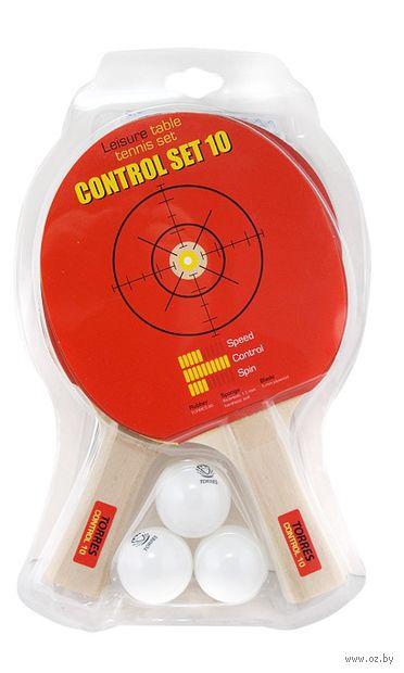 "Набор для настольного тенниса ""Control Set 10"" (2 ракетки+3 мяча+сетка; арт. TT0010) — фото, картинка"