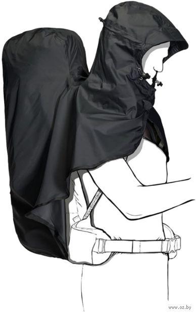 """Накидка на рюкзак """"Raincover Hoody 45-65L"""" (45-65 л; чёрная) — фото, картинка"""