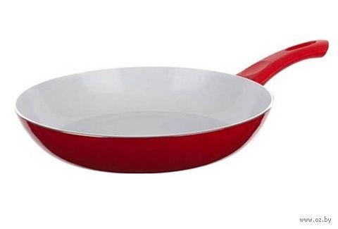 """Сковорода алюминиевая с керамическим покрытием """"Red Culinaria"""" (28*5,5 см, арт. 40HTXJPCE0128RE-A)"""