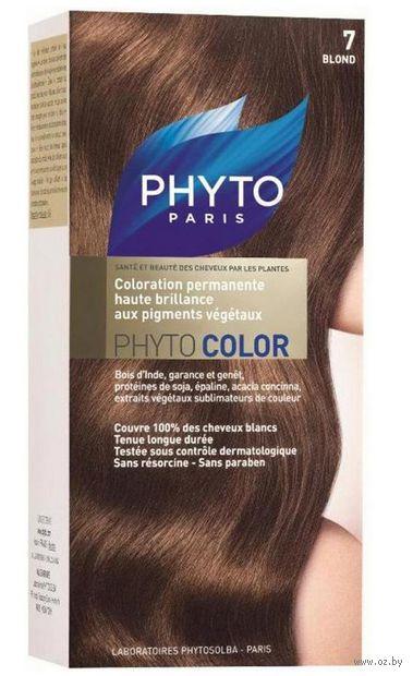 """Краска для волос """"Phytocolor"""" (тон: 7, блонд)"""