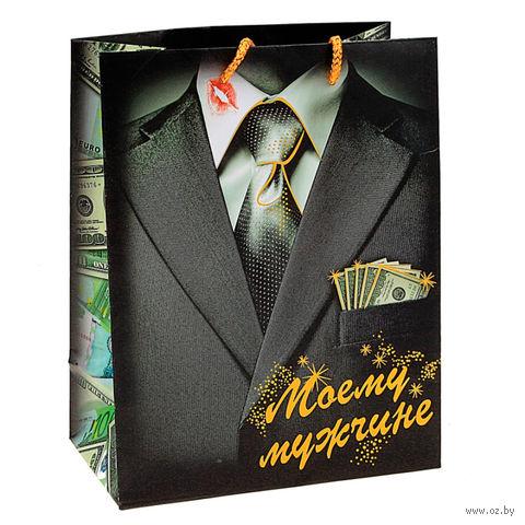 """Пакет бумажный подарочный """"Моему мужчине"""" (18х23х10 см; арт. 10444109)"""