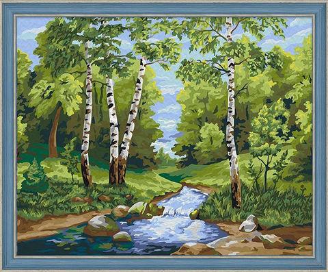 "Картина по номерам ""Лесной ручей"" (400х500 мм) — фото, картинка"