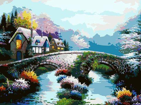 """Картина по номерам """"Старинный мост"""" (300х400 мм) — фото, картинка"""