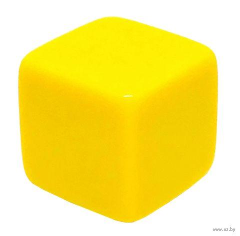 """Кубик D6 """"Пустой"""" (16 мм; жёлтый; арт. 2527-2) — фото, картинка"""