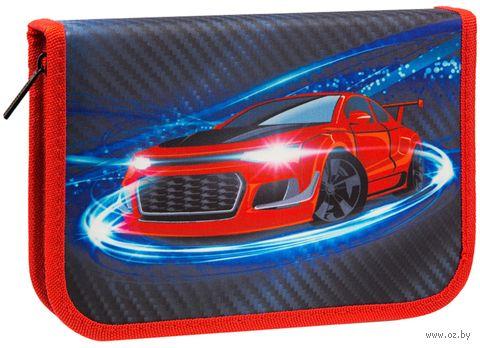 """Пенал """"Carbon Car"""" (1 отделение) — фото, картинка"""