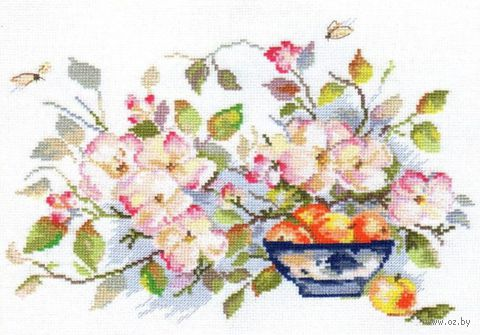 """Вышивка крестом """"Яблоневый цвет"""" (290х210 мм) — фото, картинка"""