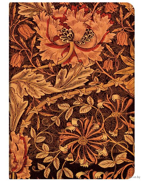 """Записная книжка Paperblanks """"Жимолость Морриса"""" нелинованная (формат: 120*170 мм, средний)"""