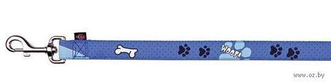 """Поводок для собак """"Modern Art Woof"""" (голубой, размер XXS-XS, 120 см, арт. 15210)"""
