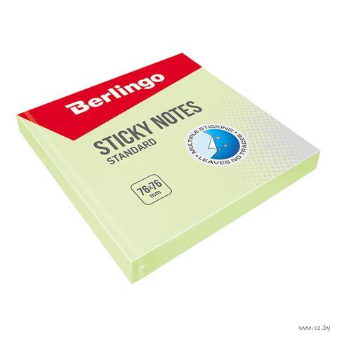 """Бумага для заметок на клейкой основе """"Стандарт"""" (зеленая; 100 листов)"""