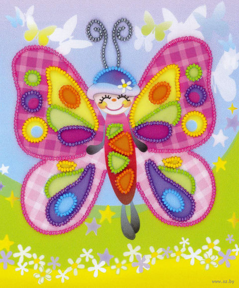 "Вышивка бисером ""Сказочная бабочка"" (150х180 мм) — фото, картинка"