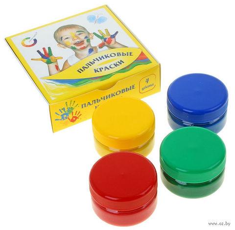 "Краски пальчиковые ""Азбука цвета"" (4 цвета; арт. 91-4.60-00) — фото, картинка"