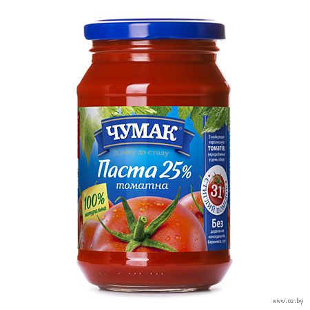"Паста томатная ""Чумак. 25%"" (350 г) — фото, картинка"