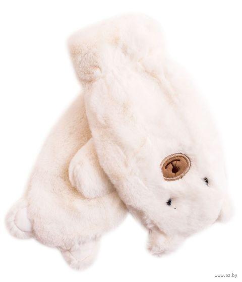 """Варежки """"Медведи"""" (белые) — фото, картинка"""