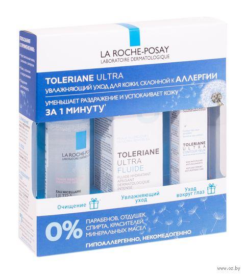"""Подарочный набор """"Toleriane Ultra"""" (мицеллярная вода, эмульсия для лица, крем для кожи вокруг глаз) — фото, картинка"""