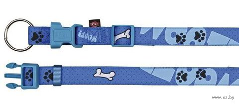 """Ошейник нейлоновый для собак """"Modern Art Collar Woof"""" (размер S-M, 30-45 см, голубой, арт. 15220)"""