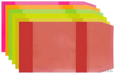 """Обложка для учебников универсальная прозрачная цветная """"Darvish"""" (арт. DV-5669)"""