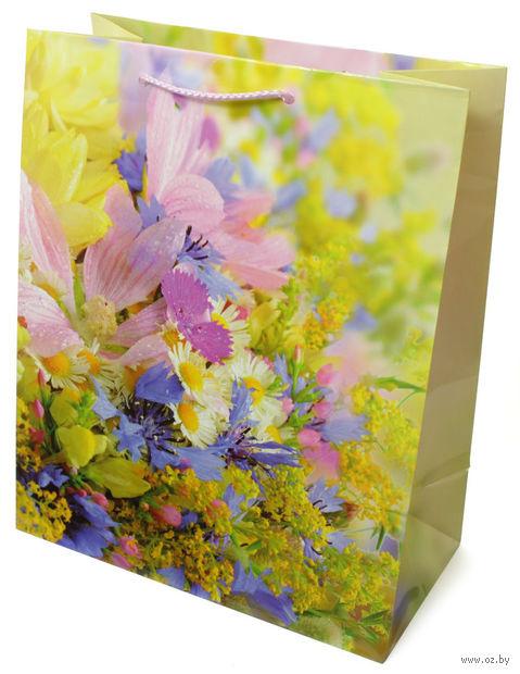 Пакет бумажный подарочный (26x32x13 см; арт. 3120 L) — фото, картинка