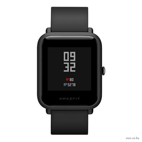 Умные часы Xiaomi Amazfit Bip (черные) — фото, картинка